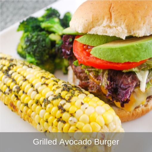 Grilled Avocado Burger