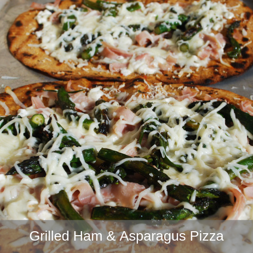 Grilled Ham and Asparagus Pizza